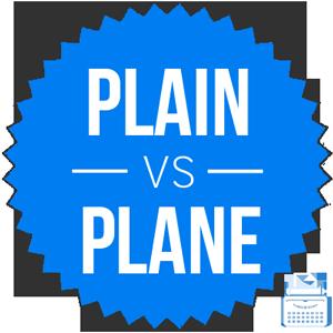plain versus plane