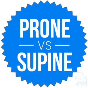 prone versus supine