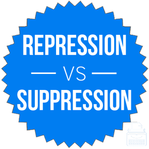 repression versus suppression