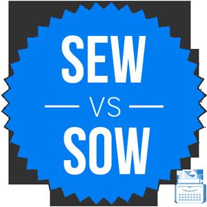 sew versus sow