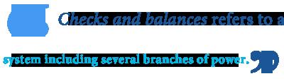 synonym for checks and balances