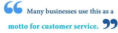 is the customer always right origin