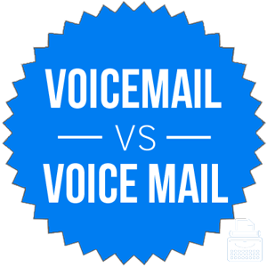 voicemail versus voice mail