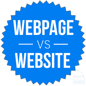 webpage versus website