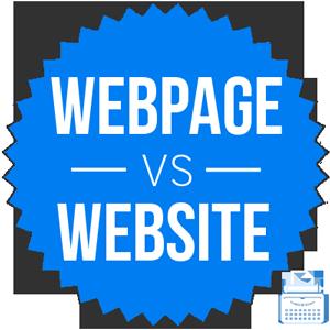 webpage versus website