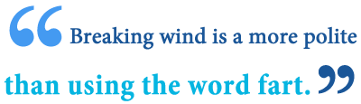 what does it mean to break wind