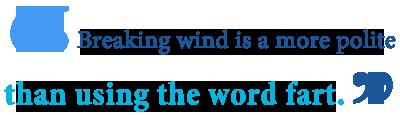 what does it mean to break wind