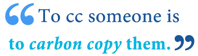 what is a carbon copy