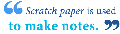 what is scratch paper