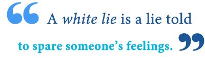 white lie definition