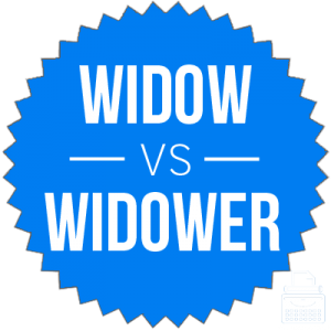 widow versus widower