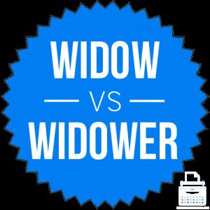 widow versus widower