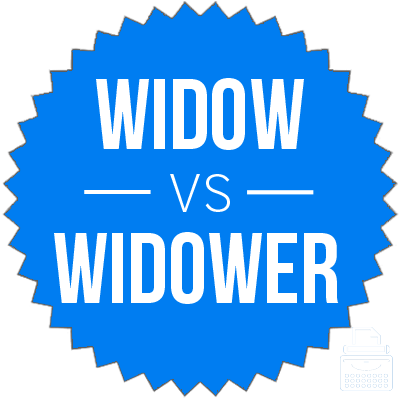 Widow widower difference